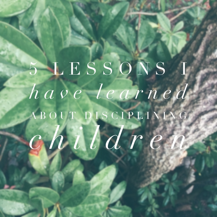 5 Lessons I Have Learned About DisciplingChildren